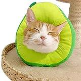 Mayumay Schutzkragen für Katze, Katzen Halskrause Verstellbar Weich Soft Anti-Biss für kleine Haustiere (1Stück - Avocado)