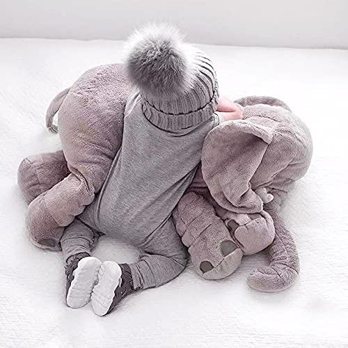Almohada de elefante bebé de 60 cm, cojín de elefante pequeño confiable y lindo, juguete de elefante para niños divertido, regalo de cumpleaños para niños