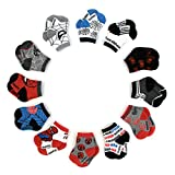 Marvel Spiderman 12 Pair Assorted Color Socks Set, Baby Boys, Age 0-24 Months (0-6 Months)