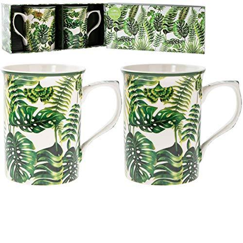 Les Trésors De Lily [Q4094 - Coffret Cadeau 'Jungle' Vert Blanc - 10x7.5 cm
