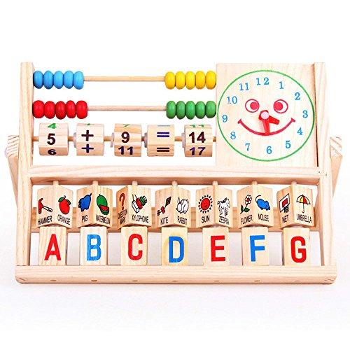 Niños Abacus Juguete Bebé Niños Aprendizaje Matemáticas Versátil Al Por Menor Abacus Juguetes de Madera Juguetes Educativos para Niños 17cm