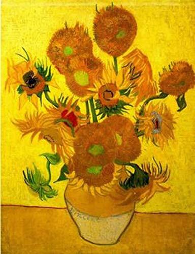 Digitale Schilderen door Getallen Kits Vincent Van Gogh Stilleven Zonnebloemen in een vaas Olieverfschilderij op Canvas Wall Art Decoratie voor Home Gift voor Nieuwe Accommodatie Bruiloft voor Volwassenen Kinderen Beginners