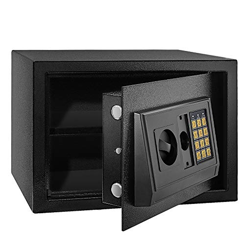 MSRUIOO Security Safe BoxFireproof Home Safe Lock BoxCabinet Safes with KeypadSteel Safe Box for Home amp Office Protect CashMoneyJewelryPassportsGun