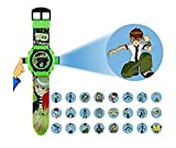 Green Color Digital Watch. Ben 10 24 images in projector. Watch is looking attractive and stylish. fun for kids.