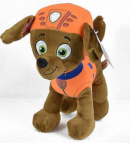 Play by Play Peluche Personaje Zuma - LA Patrulla Canina - Perro Raza Labrador Y SOCORRISTA (20 CM DE PIE) - Color Naranja