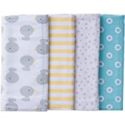 Gerber Baby 4 Pack Flannel Burp Cloth, new duck, 20  x 14
