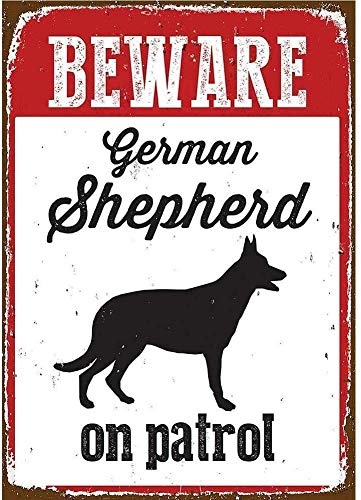 Placa decorativa de metal con aspecto vintage de 20 x 30 cm, con texto en inglés 'Beware Shepherd', para el hogar, cocina, baño, granja, jardín, garaje, citas inspiradoras, decoración de pared