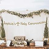 Bannière de communion de première communion personnalisée bannière de communion personnalisée bannière de communion décoration de communion bannière or dieu bénir bannière