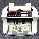 HIZLJJ Conta Banconote Professionale Cash conteggio macchina Biglietto Grade contatore di valuta in contanti, Macchina con Counterfeit Bill Detection - Contro Soldi for Dollari USA, Euro, Renminbi, Do