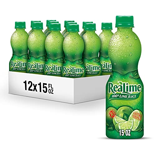 ReaLime 100 percent Lime Juice, 15 fl oz bottles (Pack of 12)