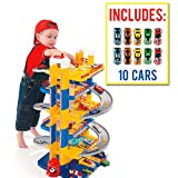 M MOLTO Parking Infantil 6 Plantas + 10 Coches incluidos