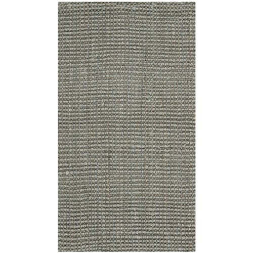 Safavieh Natural Fiber Collection NF730B - Alfombra Hecha a Mano (Yute, 2 x 3 m), Color Verde y Gris