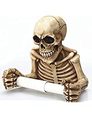 骸骨 ドクロ スカル トイレットペーパーホルダー ペーパーホルダー 壁掛け バスルーム ハロウィン 小道具