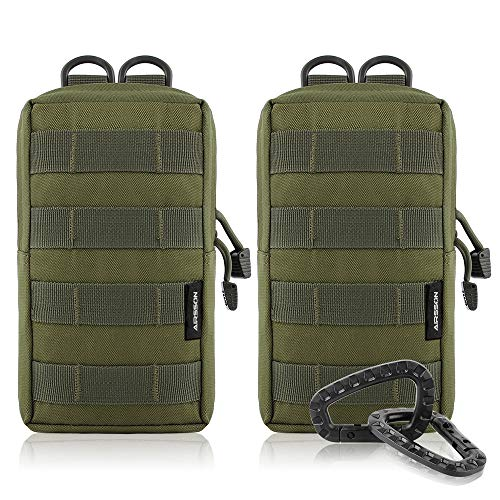 Airsson 2-Stück Molle Taschen Tactical Beutel Pouches Satteltaschen Wanderausrüstung