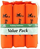 D.T. Systems Cordura Nylon Dog Training Dummy, Blaze orange, Large, 3-Inch by 12-Inch, 3-Pack (83203)