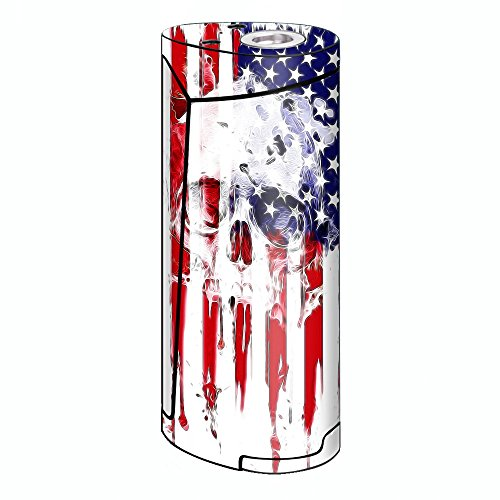 Skin Decal Vinyl Wrap for Smok Priv V8 60w Vape stickers skins cover/ U.S.A. Flag Skull Drip