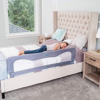Bed Rails for Toddlers &Infants – Kids Bed Safety Guard Rail –Toddler Bed Rails for Twin Full Size Queen &King Mattress – Baby Bed Rail for Children – Extra Long Crib Rail Guard -Grey  59L19.5H  in