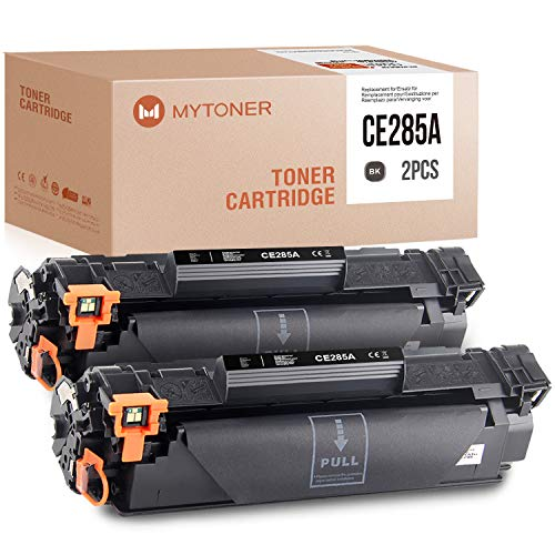 MYTONER Kompatibel HP 85A CE285A Schwarz Toner für HP Laserjet Pro P1102w M1212nf MFP M1210 M1130 M1132 M1217nfw (Schwarz, 2 Pack)