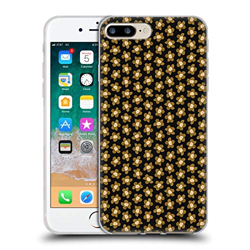 Head Case Designs Licenciado Oficialmente Ninola Oro Negro Floral Carcasa de Gel de Silicona Compatible con Apple iPhone 7 Plus/iPhone 8 Plus
