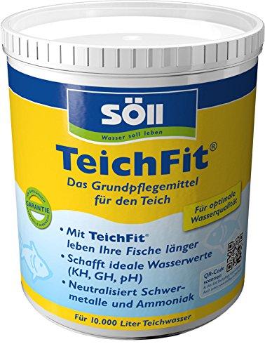 Söll 15212 TeichFit Grundpflegemittel für den Teich 1 kg - ganzjährig anwendbarer Wasseraufbereiter Stabilisator für Teichwasser im Gartenteich Fischteich Koiteich Schwimmteich