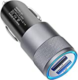 CAM2 Car Charger, 2.1A 2-Port USB Fast Car Charger for iPhone X/8/7/6/6 Plus, iPad Air 2/Mini 4, Samsung Galaxy S6/S6 Edge and More