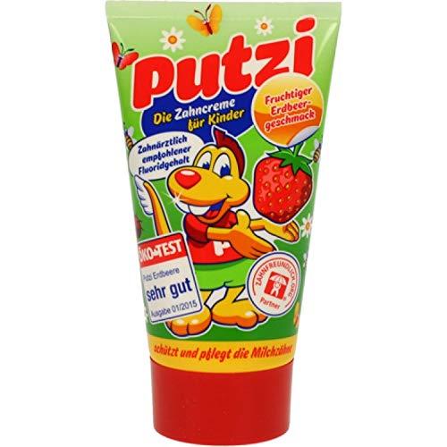 Putzi Zahncreme für Kinder Erdbeere - 6er Pack (6 x 50ml)
