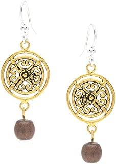 Willow House Jewelry Designed by Sara Blaine Women's Maya Wood Drop Earrings