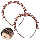 Bangs Hairstyle Hairpin, 2 PCS Frisurenhilfe Haarreif mit Klammern, Haarnadeln Friseurbedarf, Stirnband Haarhalter Haarschmuck Haarband,Haarband mit Clips, Twist Clip Stirnband