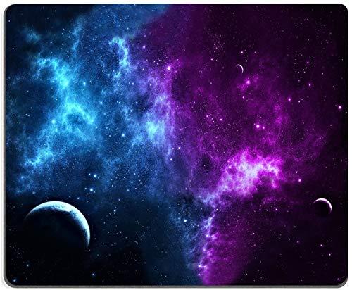 """Nebula Galaxy Universe MousePadNon-SlipRubberBaseGamingCool MousePadsforComputersLaptopOffice,9.5""""x7.9""""x0.12""""Inch(240mmx200mmx3mm)"""