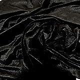 Tessuto in velluto elasticizzato per costumi e lavori di bricolage, Nero, 1 yd