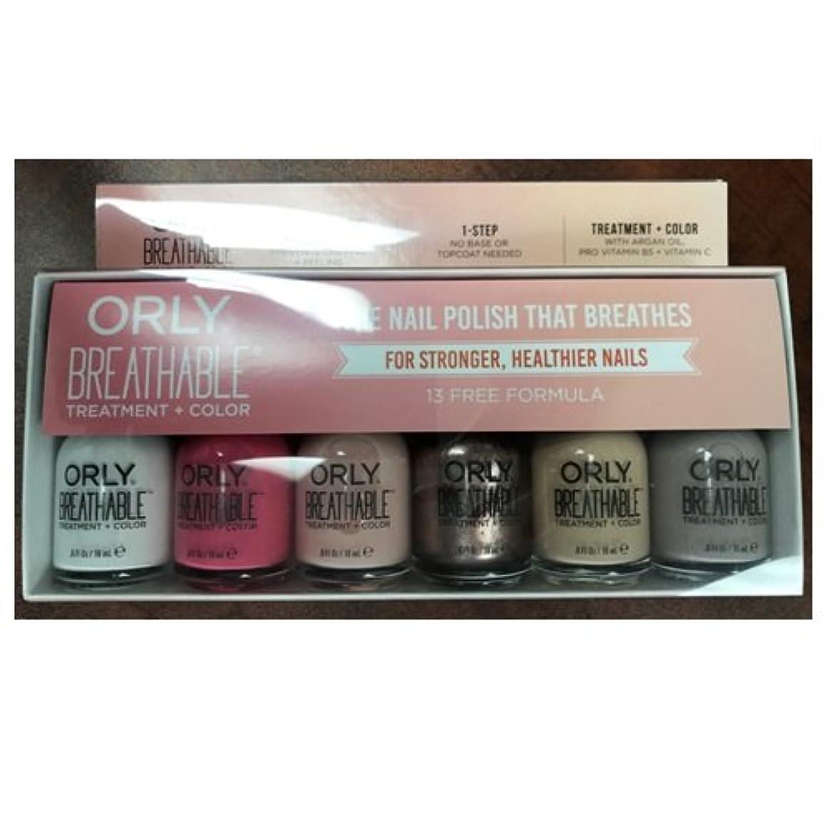 枯渇するレンダースタジアムOrly Breathable Nail Lacquer - Treatment + Color - 6 Piece Kit #2 - 18ml / 0.6oz Each