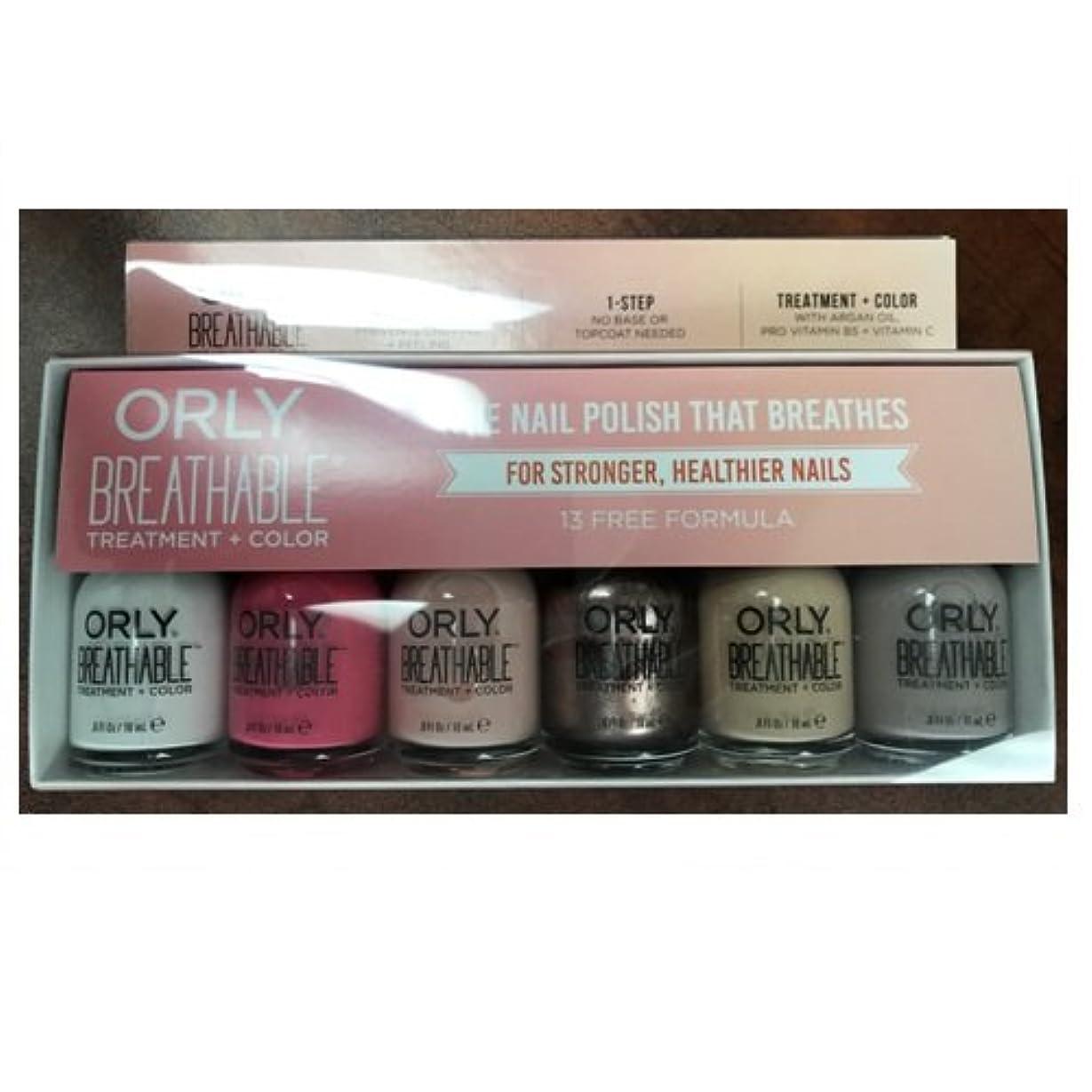 芝生オーガニック船Orly Breathable Nail Lacquer - Treatment + Color - 6 Piece Kit #2 - 18ml / 0.6oz Each