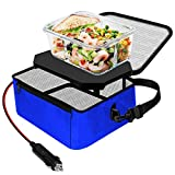 TrianglePatt Portable Oven,12V Portable Food Warmer for Car Mini Microwave for heated Meals, Upgraded Lunch Warmer Box with Bag for Travel, Camping, Outdoor Job, Potlucks