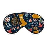 Women & Men Cute Little Foxes Pattern (9) Sleep Eye Mask Luxury Shading Eye Shade Cover for hostel, Hotel, Beach, Shift Work