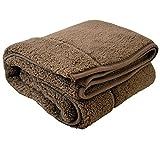 包まれた瞬間からポカポカ 二枚合わせの温もり もこもこ毛布 ブラウン シングル 140x200cm