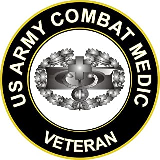 "MilitaryDecals23 5.5"" US Army Combat Medic Veteran Decal Sticker"