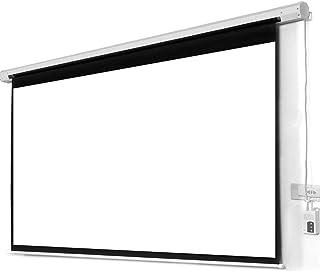 شاشة عرض بروجكتور كهربائية مع ريموت من تايمي مقاس 180 سنتم - ابيض