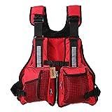 Adult Swimming Life Vest Multi Pockets Fishing Life Jacket Vest Sailing Kayaking Boating