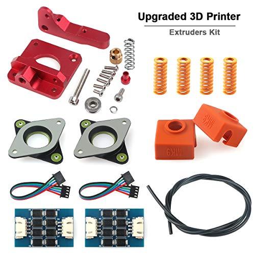 Impresora 3D TL-Smoother Ender 3 Kit de extrusor de repuesto actualizado, aluminio MK8 Sock Tube Stepper Motor Vibration amortiguadores de resorte para Creality Ender 3, CR-10, CR-10S, CR-10 S4 S5