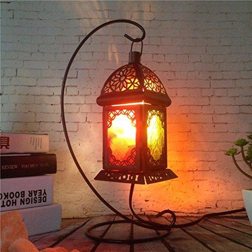 Preisvergleich Produktbild Ywyun Europäische Retro-Eisen-Lampen,  energiesparende High-Brightness LED-Kristalllampen,  Nacht Wohnzimmer Schlafzimmer Lichtdekoration IPL,  20 * 9, 5 cm (Color : Stent lights)