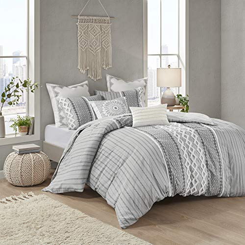 INK+IVY 100% Cotton Duvet Mid Century Modern Design, All Season Comforter Cover Bedding Set, Matching Shams, King/Cal King(104