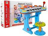 BSD Digitalpiano E-Piano Keyboard Mit Schlagzeug 3 Octaven - Blau