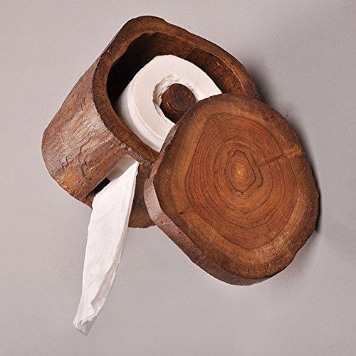 TINE Toilettenpapierhalter/Toilettenpapier-Holz-Mehrzweck-Papierhalter