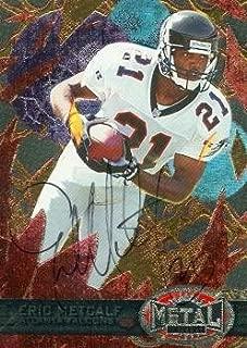 Eric Metcalf autographed Football Card (Atlanta Falcons) 1997 Skybox Metal #125 - NFL Autographed Football Cards