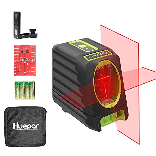 Huepar SelfLeveling Laser Level 150ft/45m Outdoor Cross Line Laser Selectable Laser Lines with Pulse ModeLevel with Vertical Beam Spread Covers of 150°360°Magnetic Base and Battery IncludedBOX1R