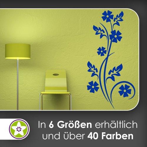 Kiwistar Petites Fleurs – Feuilles Sticker Mural Sticker Mural Wall Stickers – 6 Tailles, 72_Hellgrau, 120 x 47 cm