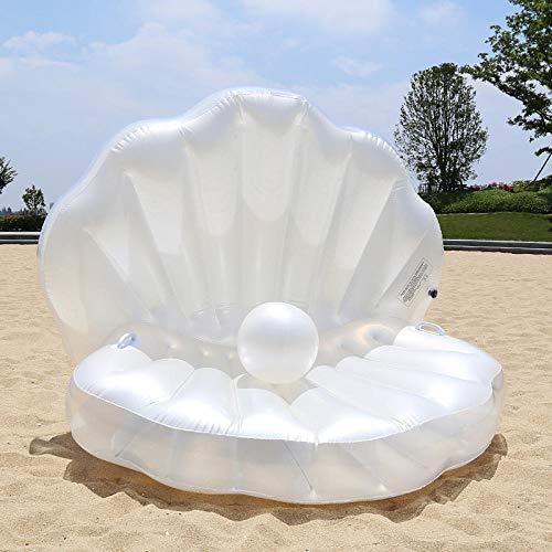 Giant Pool Float Shells Aufblasbar In Wasser Schwimmende Reihe Pearl Ball Jakobsmuschel Aqua Liegen Schwimmende Luftmatratze Donuts Schwimmring-160 * 160 * 30cm