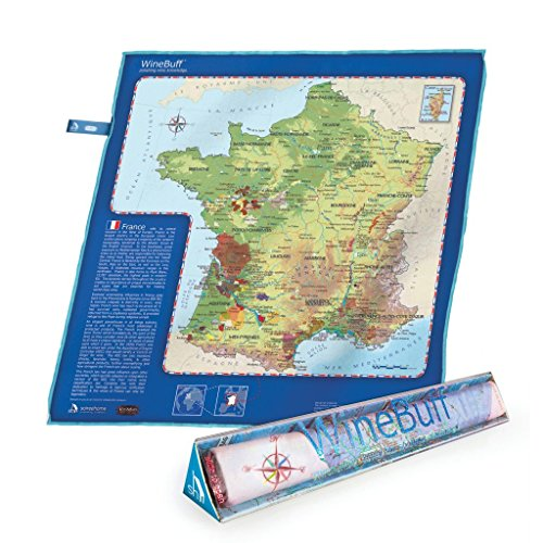 Soiree Wijn Buff-Frankrijk, Doek Blauw, 50x50x3 cm
