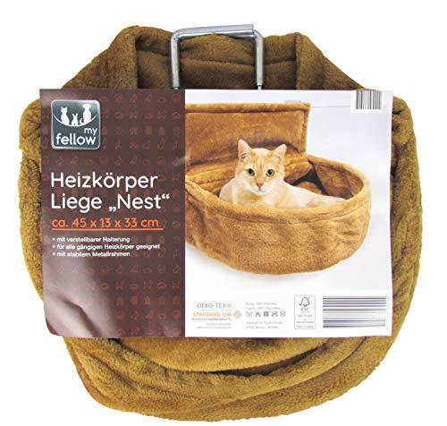 my fellow - Heizkörper Liege/Nest für Katzen - Katzennest für Heizung (Braun)