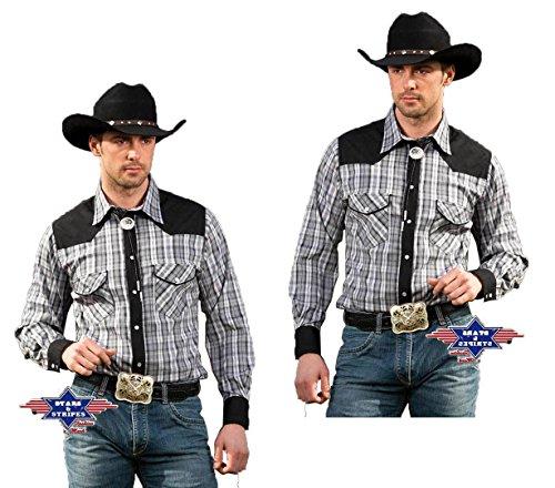 STARS & STRIPES - Camisa Casual - para Hombre Gris Medium